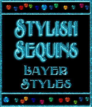 Stylish Sequins Layer Styles 2D Graphics Merchant Resources fractalartist01