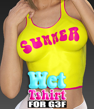 Wet Tshirt for G3F 3D Figure Assets powerage