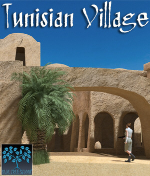 Tunisian Village 3D Models BlueTreeStudio