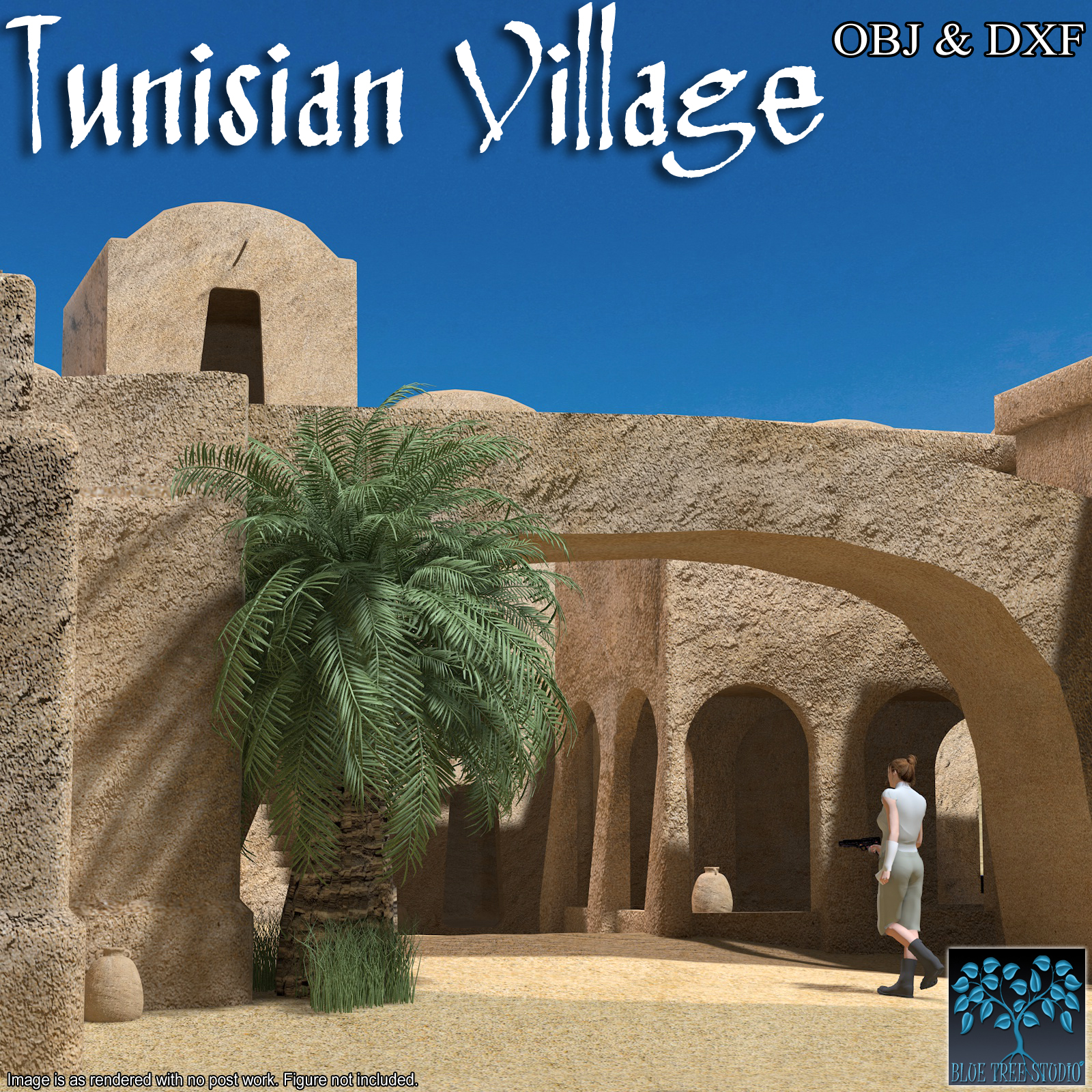 Tunisian Village OBJ & DXF - Extended License