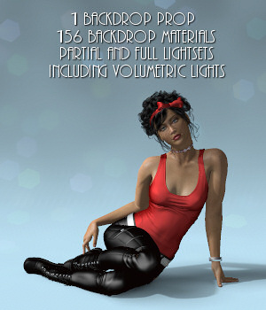 Backdrop & Lights Set 3D Software : Poser : Daz Studio : iClone Lully
