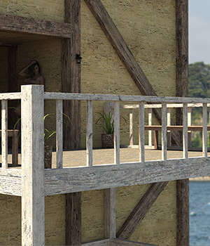 Balcony Scene 3D Models RPublishing