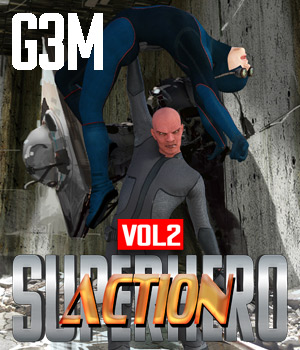 SuperHero Action for G3M Volume 2 3D Figure Assets GriffinFX