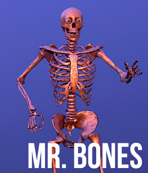 Mr. Bones - Extended License 3D Game Models : OBJ : FBX 3D Models Extended Licenses Cybertenko