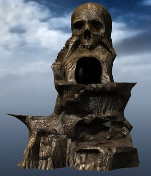 Skull Rock Mountain obj format - Extended License 3D Game Models : OBJ : FBX 3D Models Extended Licenses VanishingPoint