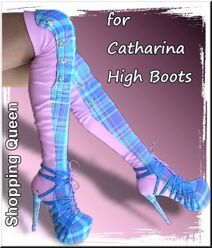 Shopping Queen: for Catharina High Boots 3D Figure Assets LUNA3D
