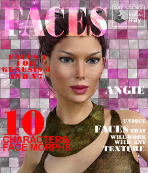 Faces 1 for Genesis 3 Female and Victoria 7 3D Figure Assets farconville