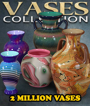 Exnem Vases Collection for Iray 3D Models exnem