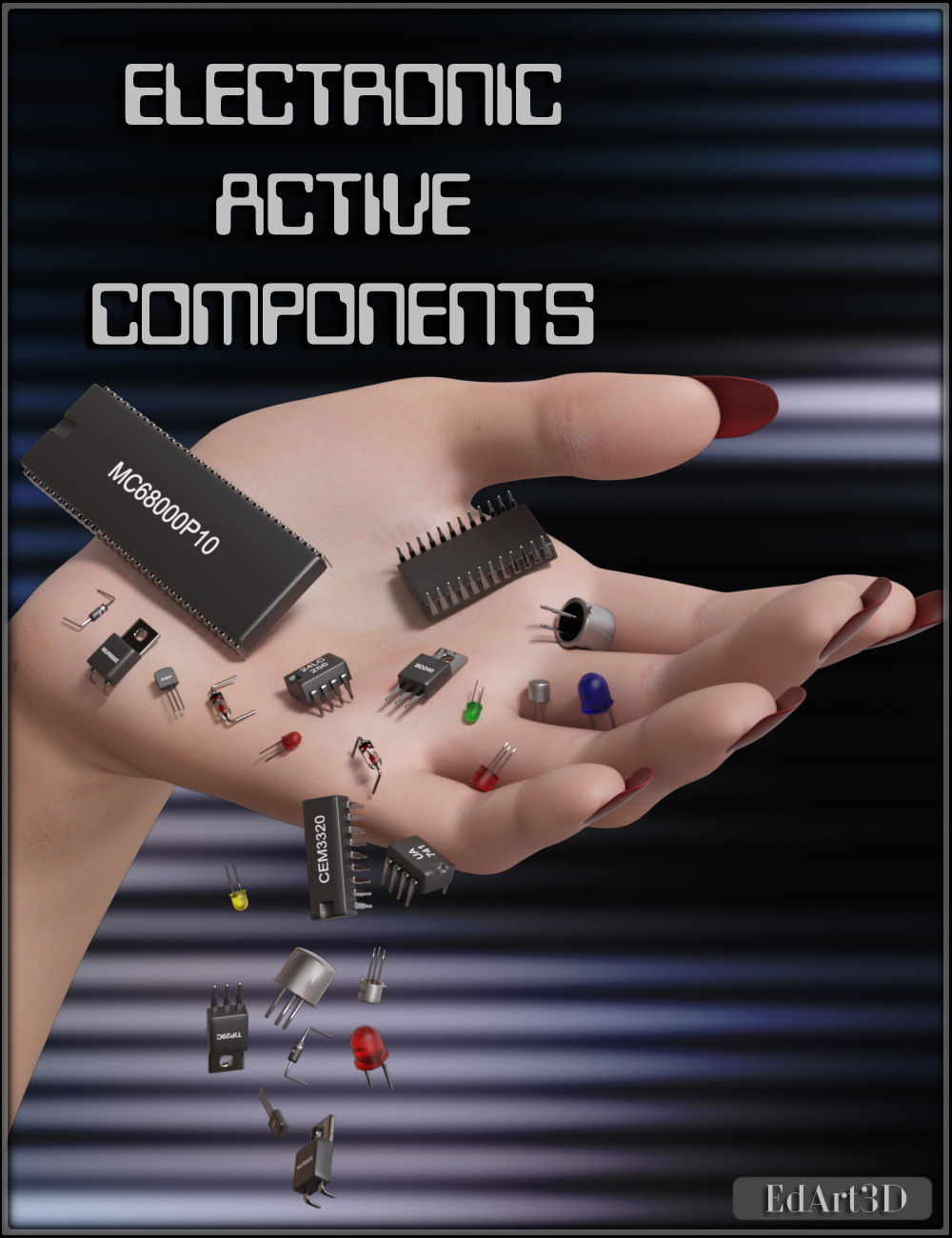 Electronic Active Components by EdArt3D