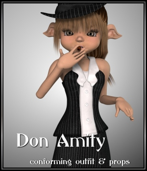 Don Amity 3D Figure Assets JudibugDesigns