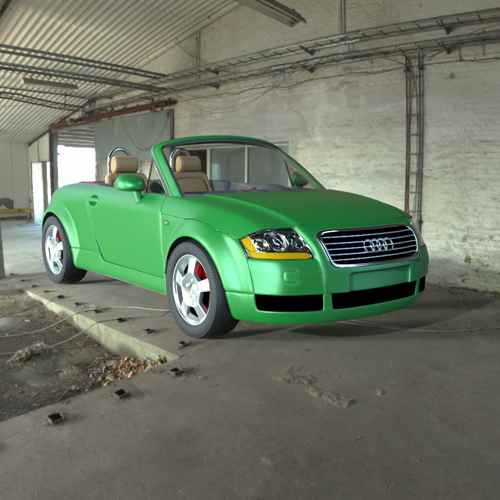 Audi TT 2001 in 3ds and obj format - Extended License