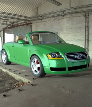 Audi TT 2001 in 3ds and obj format - Extended License 3D Models Extended Licenses Digimation_ModelBank