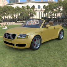 Audi TT 2001 in 3ds and obj format - Extended License image 1