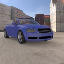 Audi TT 2001 in 3ds and obj format - Extended License image 2
