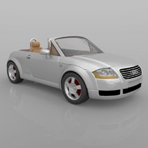 Audi TT 2001 in 3ds and obj format - Extended License image 3
