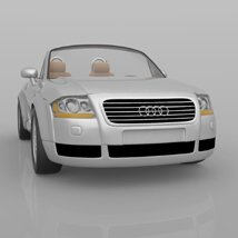 Audi TT 2001 in 3ds and obj format - Extended License image 4