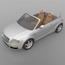 Audi TT 2001 in 3ds and obj format - Extended License image 5
