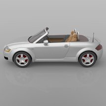 Audi TT 2001 in 3ds and obj format - Extended License image 6