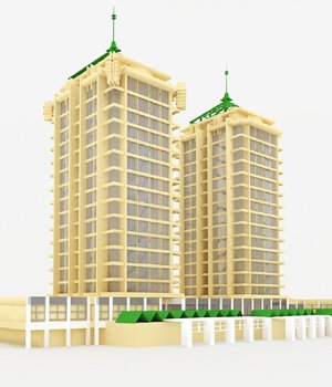 Apartment Building in 3ds and obj format - Extended License 3D Models Extended Licenses 3D Game Models : OBJ : FBX VanishingPoint