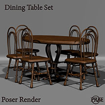 Prae-Dining Table Set EXTENDED LICENCE image 1