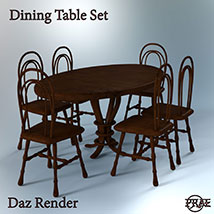 Prae-Dining Table Set EXTENDED LICENCE image 3
