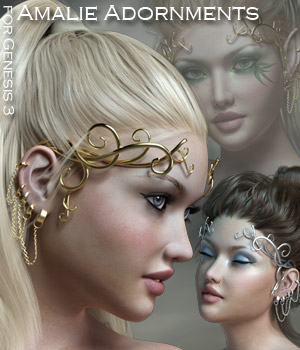 Amalie Adornments for Genesis 3 3D Figure Assets Rhiannon