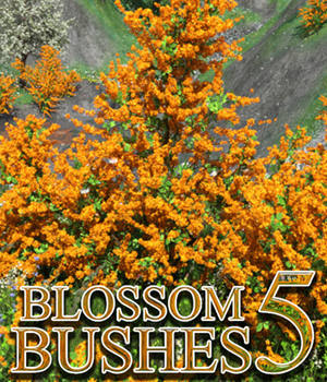 Flinks Blossom Bushes 5 3D Models Flink