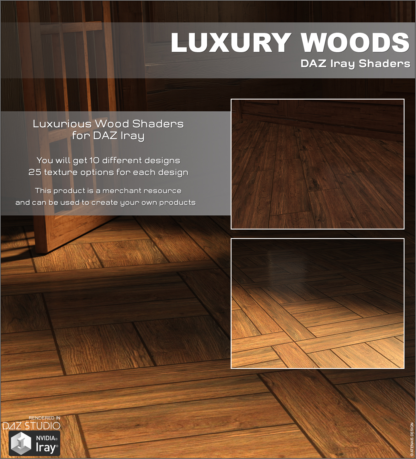DAZ Iray - Luxury Woods