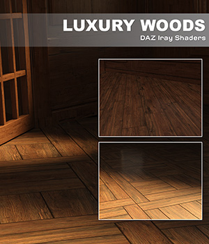 DAZ Iray - Luxury Woods 3D Figure Assets Merchant Resources Atenais