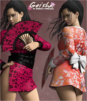Geisha for Genesis 3 Females 3D Figure Assets mytilus