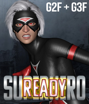 SuperHero Ready for G2F & G3F Volume 1 3D Figure Assets GriffinFX