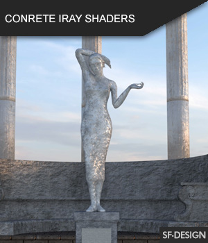 Concrete Shader Presets for Iray and Merchant Resource 3D Figure Assets Merchant Resources SF-Design