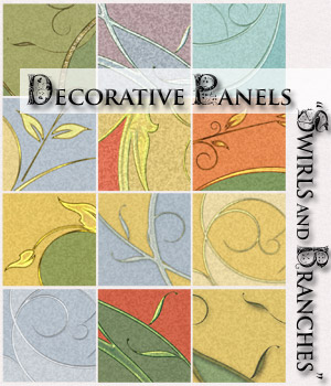 Decorative Panels - Swirls and Branches 2D Graphics RAGraphicDesign