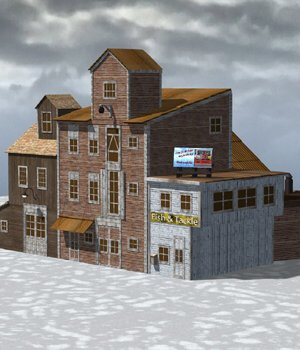 Wharf Building (for Poser) 3D Models VanishingPoint