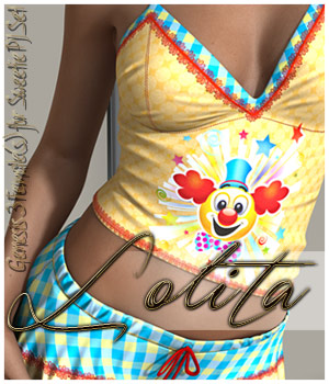 Lolita for Sweetie PJ Set G3F 3D Figure Assets alexaana
