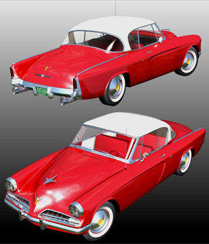 STUDEBAKER STARLINER 1953 ( for Poser ) 3D Models 3DClassics