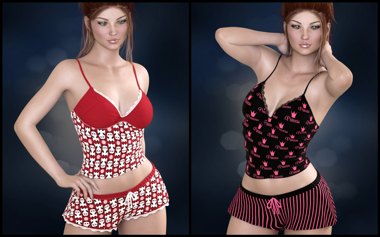 Private Moments: Sweetie PJ Set for Genesis 3 Females