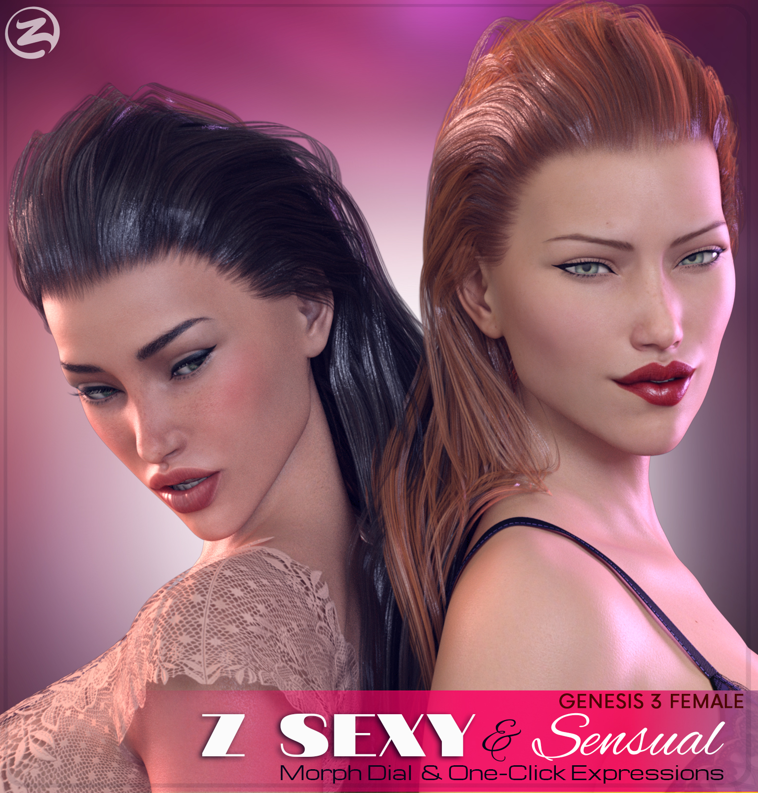 Z Sexy & Sensual - Morph Dial & One-Click Expressions for the Genesis 3 Females