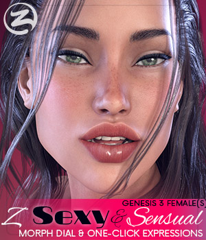 Z Sexy & Sensual - Morph Dial & One-Click Expressions for the Genesis 3 Females 3D Figure Assets Zeddicuss