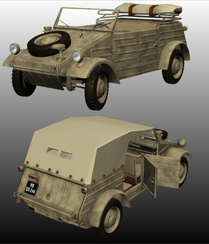 VOLKSWAGEN KUBELWAGEN ( for POSER ) 3D Models Nationale7