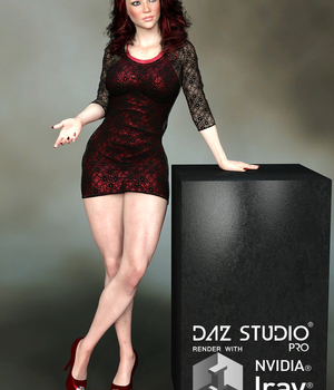 3_in_1 Layer Dress for G3F 3D Figure Assets Lionlady