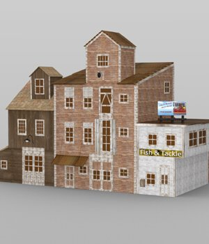 Wharf Building for DAZ Studio 3D Models VanishingPoint