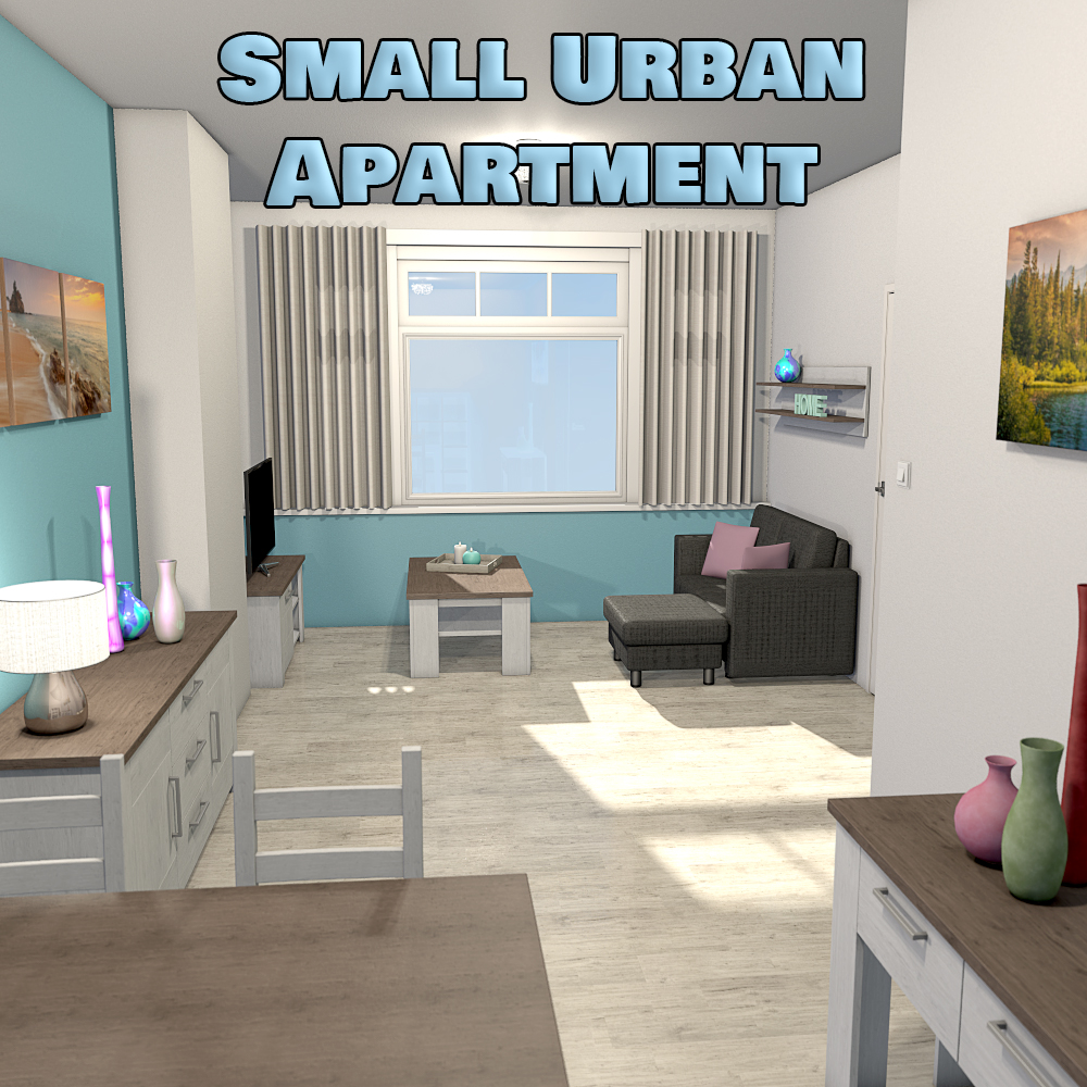 Cheap Apartment Complexes: Small Urban Apartment 3D Models 2nd_World