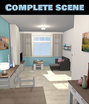 Small Urban Apartment 3D Models 2nd_World
