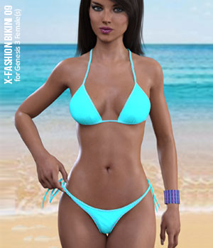 Fashion Bikini 09 for Genesis 3 Females 3D Figure Assets xtrart-3d