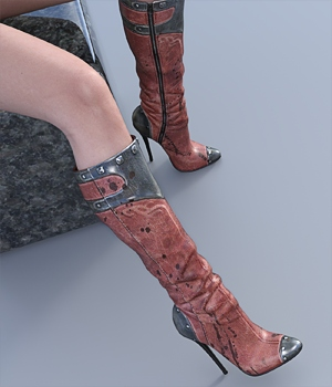 New styles for KneeBoots 3D Figure Assets hitman47