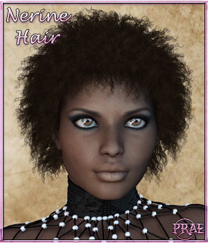 Prae-Nerine Hair For Poser 3D Figure Assets prae