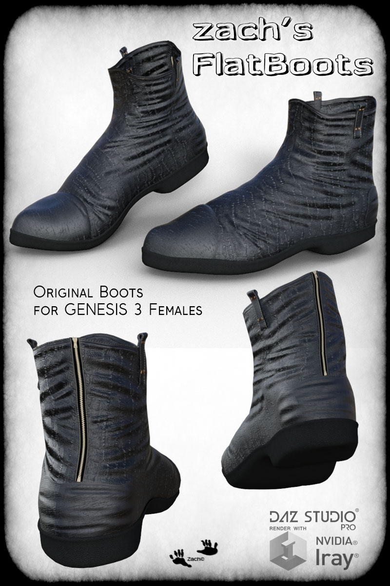 Zach's FlatBoots for GENESIS 3 Females