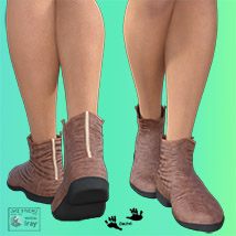 Zach's FlatBoots for GENESIS 3 Females image 3