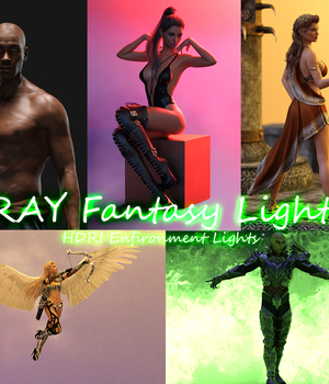 IRAY Fantasy Lights for DAZ Studio 3D Lighting : Cameras GolaMartinez